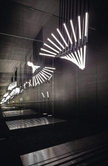 Pendelleuchte mit LED von OMA Architekten für Delta Light. Bild: Delta Light