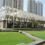 Fassadenstruktur aus Textilbeton