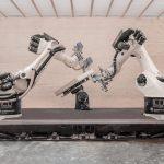 Die 376 Leichtbausegmente wurden gänzlich robotisch zusammengestellt, geleimt und genagelt. Bild: ICD Stuttgart