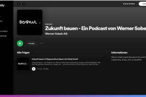 Pocast von Werner Sobek auf Spotifiy