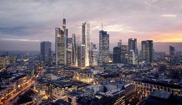 FOUR Frankfurt: Die vier neuen Hochhaustürme in der Skyline Frankfurts. Bild: UNS + HPP
