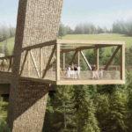 Aussichsturm und Skywalk Nationalparkzentrum am Ruhestein im Schwarzwald