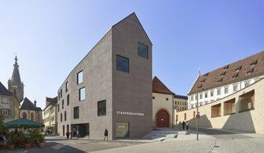 Der Neubau der Stadtbibliothek in Rottenburg am Neckar von Harris + Kurrle Architekten ist einer der Gewinner des Deutschen Ziegel-Preises 2019. Bild: Roland Halbe