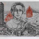 Porträtzeichnung von Architektin Iris Dullin-Grund. Bild: Privatbesitz