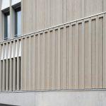 Schulhaus Pfeffingen. Fassadendetail Südfassade.