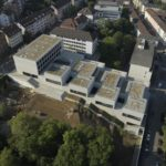 Luftaufnahme der John Cranko Schule Stuttgart. Bild: Michael Tümmers