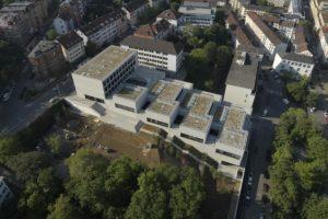 Luftaufnahme der John Cranko Schule Stuttgart