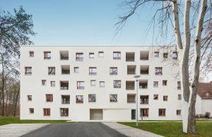Sonderpreis kostengünstiger, energieeffizienter Wohnungsbau. Vorwerkstraße 23/1, Neu-Ulm. Braunger Wörtz Architekten, Ulm. Bild: Erich Spahn
