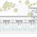 Lobende Erwähnung: Schwimmbad für Schweine von Xiarong Yu (TU Darmstadt), Grundriss