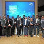 Vorstand des BIM Cluster Baden-Württemberg e.V. und die Gewinner des BIM-Award 2018. Bild: BIM Cluster Baden-Württemberg e. V.