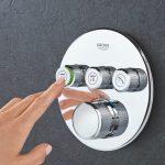 Das perfekte Duscherlebnis ganz auf Knopfdruck: Die GROHE SmartControl Unterputz-Variante   Foto: GROHE