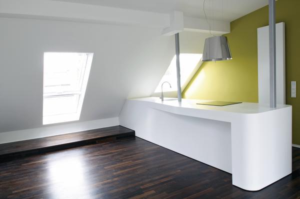 Umbau einer Dachgeschoss-Küche in München. Vom Feinsten