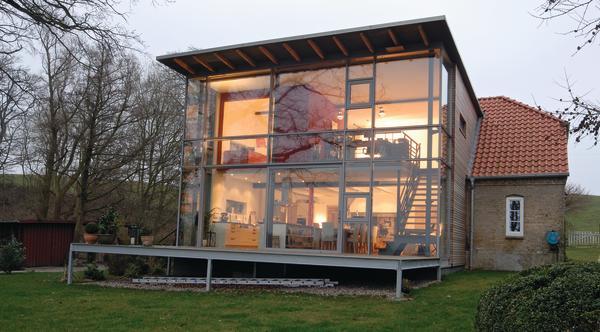 sanierung und anbau eines wohnhauses in rieseby fenster zum fluss. Black Bedroom Furniture Sets. Home Design Ideas