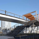Fußgängerbrücke von Dietmar Feichtinger Architectes. Bild: David Boureau