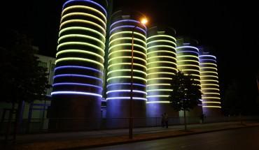 Lichtkunst: Nils-R. Schultze | 'Glowing' BTB Berlin . Fotos: Nils-R. Schultze