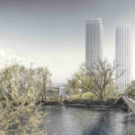 Pool Architekten, Caruso St. John Architekten, Boltshauser Architekten. Hardturm, Projekt Ensemble, Zürich, 2016-2020. Visualisierung: Nightnurse Images, Zürich