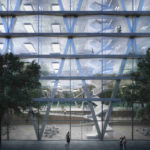 Glasfassade. Visualisierung: Nightnurse Images, Zürich