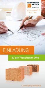 Einladung zu den LB-Planertagen. Bild: Leipfinger-Bader