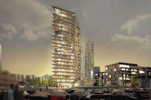 Eines der höchsten Gebäude in Holzbauweise: das HAUT in Amsterdam. Bild: Zwartlicht