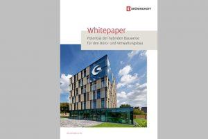 Das neue Whitepaper von Brüninghoff befasst sich mit den Möglichkeiten der Holz-Hybridbauweise für den Büro- und Verwaltungsbau.