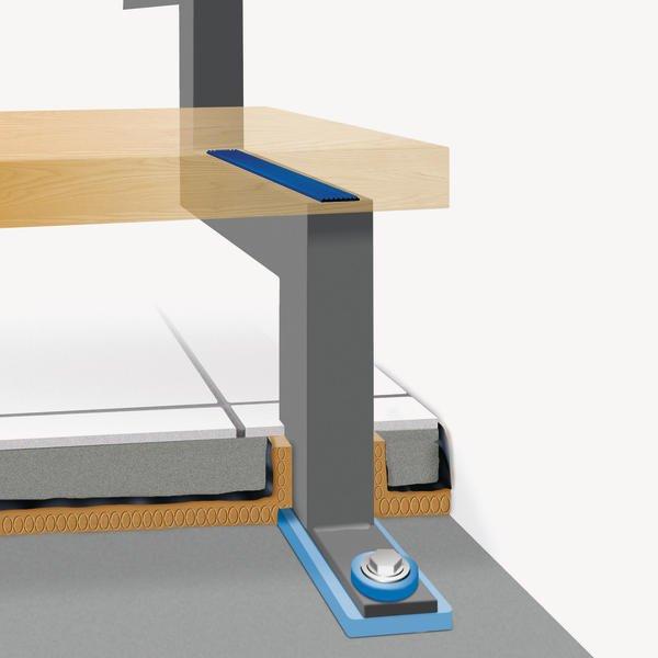 trittschallschutz bei treppen intelligent entkoppelt. Black Bedroom Furniture Sets. Home Design Ideas