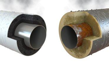 ArmaFlex Dämmstoffe mindern das Risiko der Korrosion unter der Dämmung. Bild: Armacell