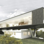 20 Meter lange Isoliergläser für die Glasfassade eines Showrooms