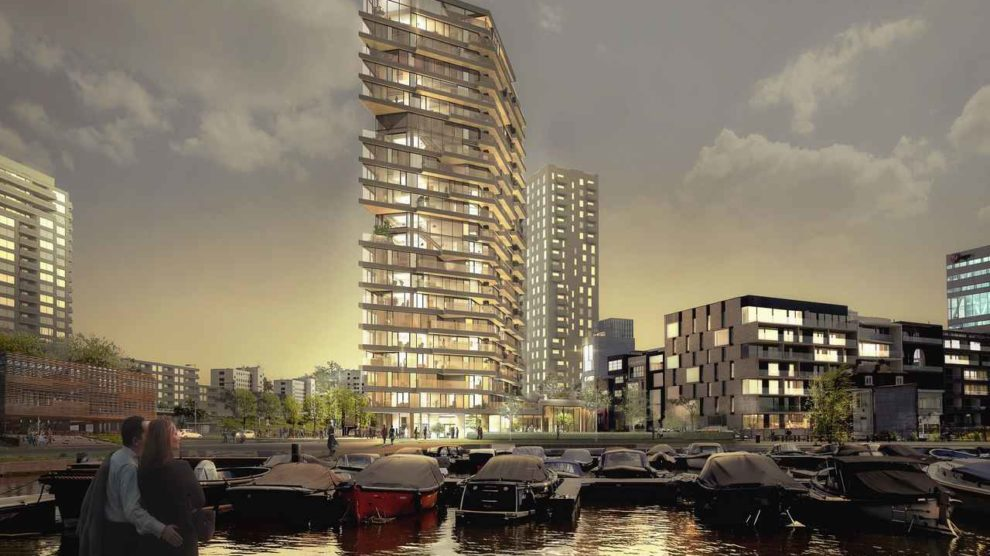 Holz-Hochhaus HAUT in Amsterdam