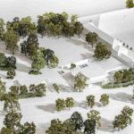 Architekturmodell für den neuen Eingang im Bundespräsidialamt