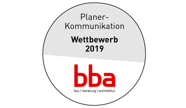"""Logo bba-Wettbewerb """"Planer-Kommunikation"""" 2019"""
