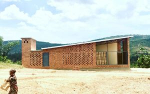 Prototype Village House in Ruanda in Ziegel-Bauweise