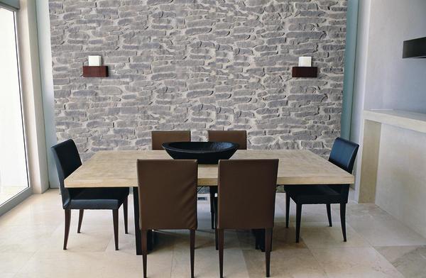 Akzente in steinoptik - Wandgestaltung mit naturstein ...