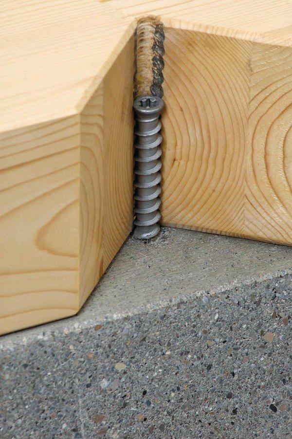 Befestigung Von Holz Auf Beton