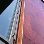 Fassade mit hochwertigem Oberflächenmaterial aus geschältem Furnierholz. www.morlock-fotografie.de
