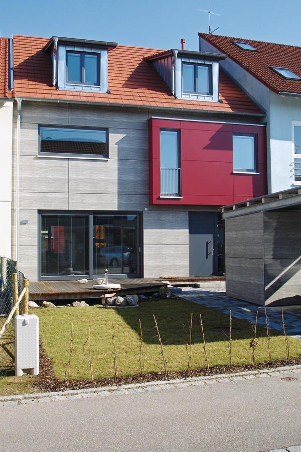 neubau eines reihenhauses in stegen passivhaus mit. Black Bedroom Furniture Sets. Home Design Ideas