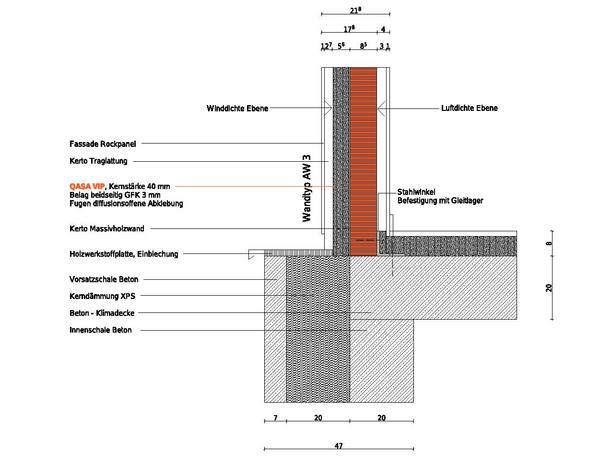 Haustür vertikalschnitt  Neubau eines Reihenhauses in Stegen. Passivhaus mit Flächengewinn
