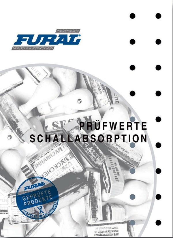 Fural-Broschüre zu Prüfwerten für die Schallabsorption.