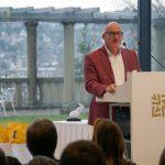 Stephan Weber, Vizepräsident der Architektenkammer Baden-Württemberg, eröffnete den Abend. Bild: BIM Cluster Baden-Württemberg e. V.