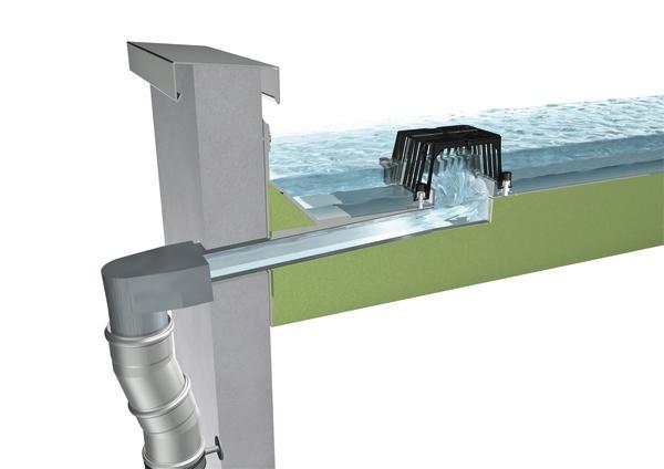 Fallrohr flachdach  Bei neuer Wärmedämmung auch an Flachdachentwässerung denken ...