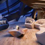 Spa-Bereich des Luxus-Hotels ME Dubai von Zaha Hadid