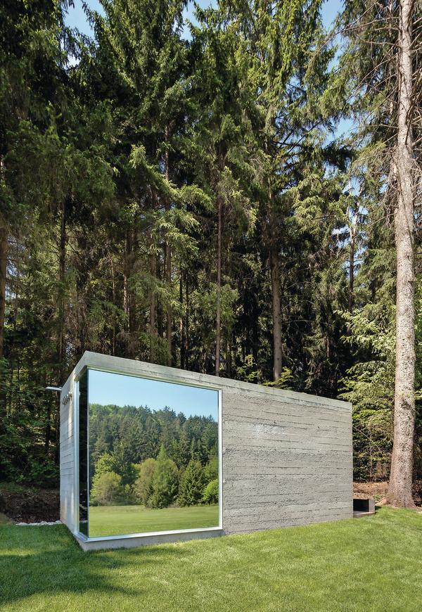 neubau eines toilettenhauses in lauterhofen genialer lokus in stampfbeton. Black Bedroom Furniture Sets. Home Design Ideas