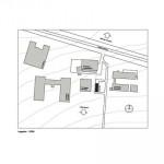 Die Übergabestation liegt am Rande des Campus und ist umgeben von älteren und neuen Universitätsgebäuden. Pläne/Zeichnungen: Heinle, Wischer und Partner