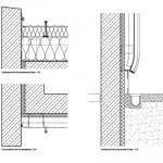Die Details zeigen den Aufbau der Außenwand sowie den Abschluss zum Erdreich.