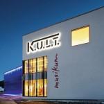 Das K.U.L.T.-Gebäude bei Nacht, Bilder: Knauf AMF