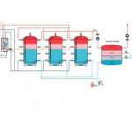 Hydraulikschema der Trinkwarmwasserversorgung. Bilder: Varmeco