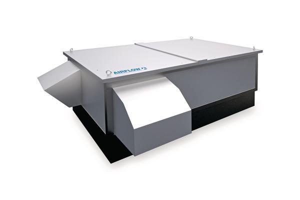 Lüftungsgerät mit flacher Bauart für die Dachinstallation: Effizient und unauffällig. Bild: Airflow