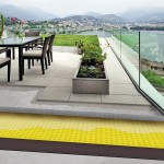 Flächendrainage für Terrassen- und Balkonentwässerung