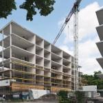 Variabel zu unterteilende Betonskelette sorgen für hohe Flexibilität in der Nutzung.