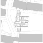 Lageplan und Grundriss Erdgeschoss.