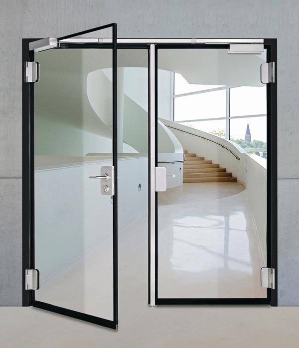 Zweiflügelige Glastür. Bild: Teckentrup